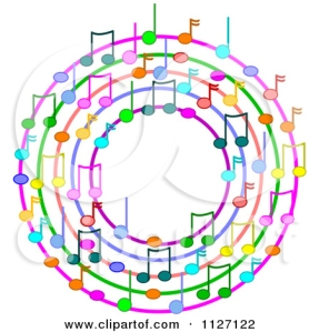 circle of music notes