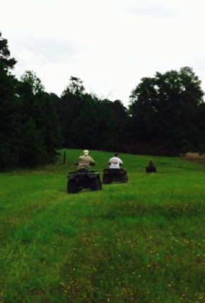 Four wheelers in big pasture