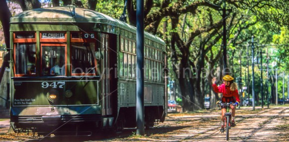 St Charles Avenue with streetcar