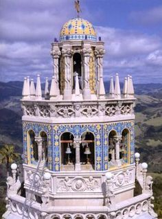 one-of-the-bell-towers-at-the-hearst-castle