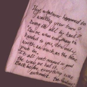 handwritten-lyrics
