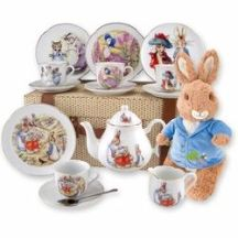 easter tea set five