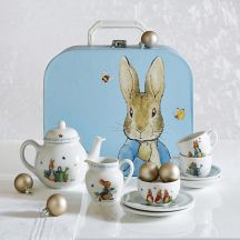 easter tea set seven