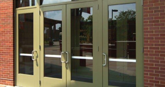 school glass door one