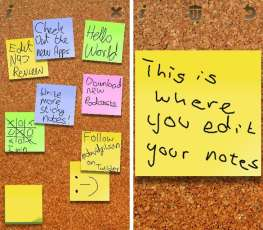 stickynotes one