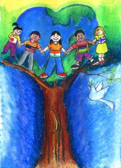 tree and children