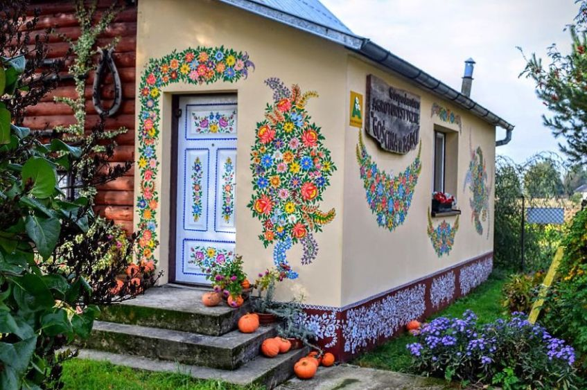 Image result for images  pretty painted houses poland