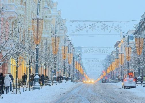 Winter in Vilnius, Lithuania