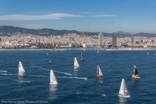Imagenes aereas de la salida de la tercera edición de la Barcelona World Race