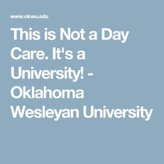 not a daycare