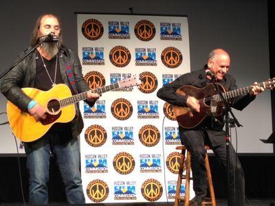 Steve with David Broza